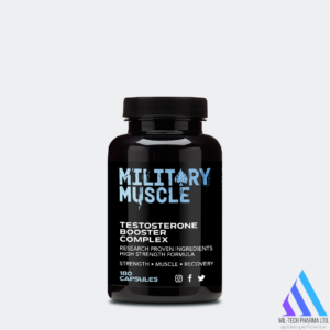 military Muscle test booster bottle